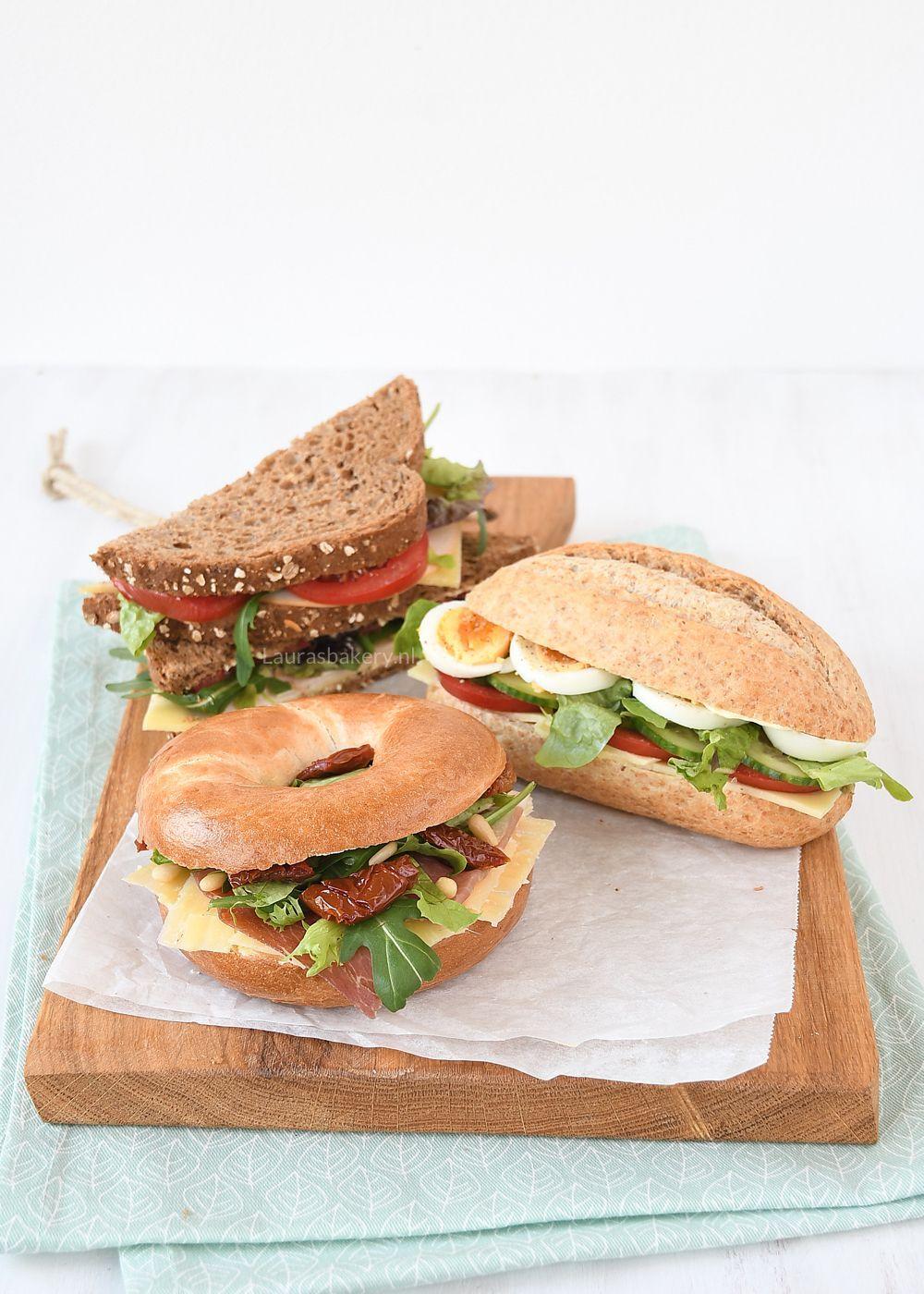 Uitgelezene 3x belegde broodjes voor de lunch - Laura's Bakery CH-18