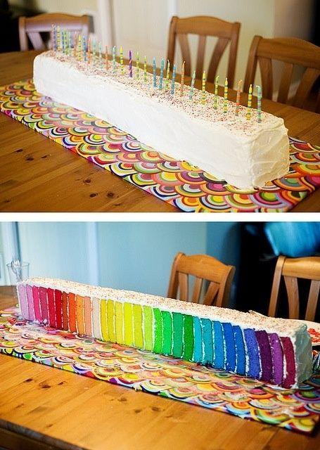 ESTE ES EL VERDADERO UNICO ORIGINAL RAINBOW CAKE!!!