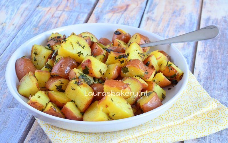 Gekruide citroen aardappelen