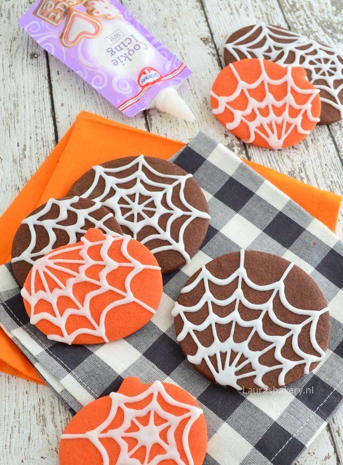 Halloween spinnenweb koekjes 1a