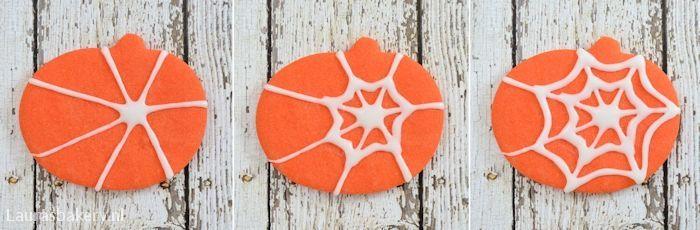 Halloween spinnenweb koekjes 5a