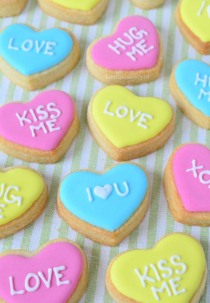 Harten koekjes met lieve boodschap 1a