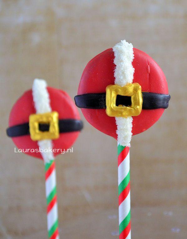 Kerstman oreo pops 1a