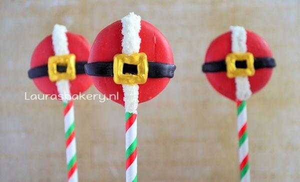 Kerstman oreo pops 2a