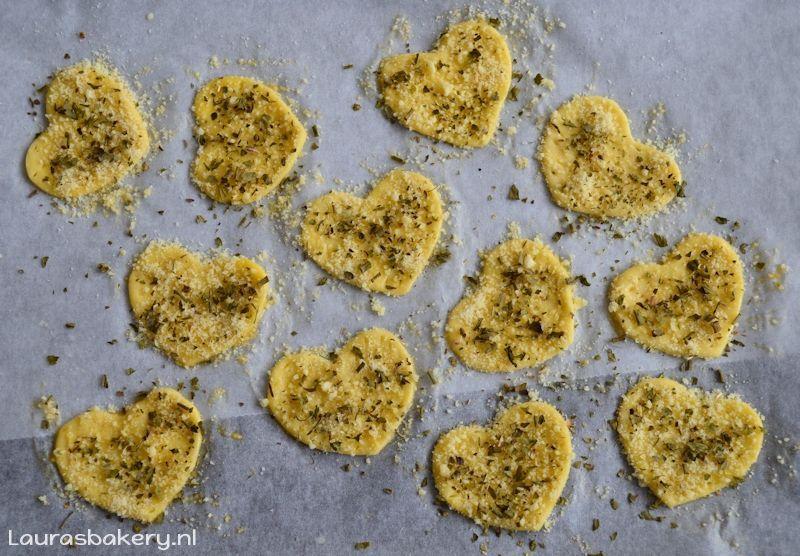 Parmezaanse harten koekjes