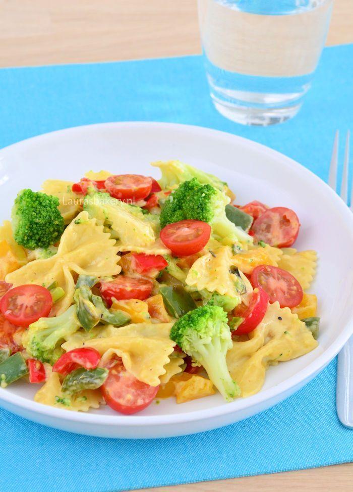 Pasta met broccoli en kaassaus 1a