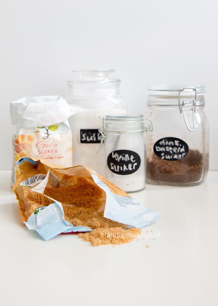 Soorten suikers om mee te bakken