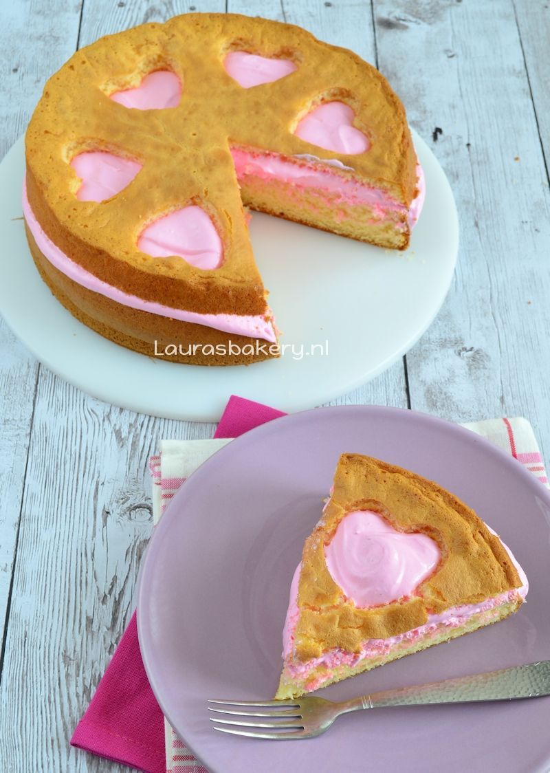 Valentijn lemon meringue wolkencake