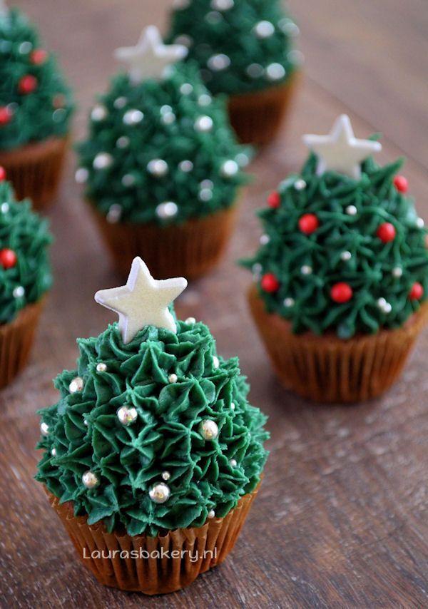 aardbei kerstboom cupcakes 1a