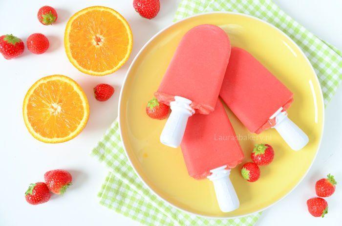 aardbei sinaasappel ijsjes 2a