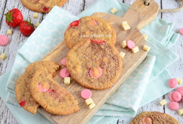 aardbeien chocolade koeken