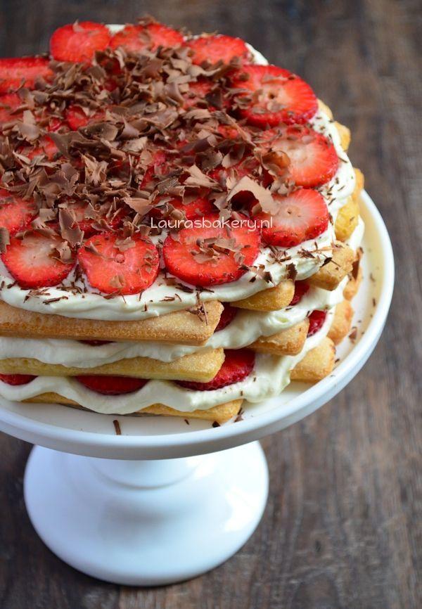 aardbeien tiramisu taart 1a