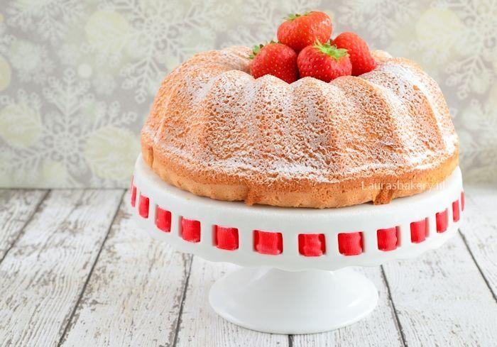 angel food cake met aardbeien 2a