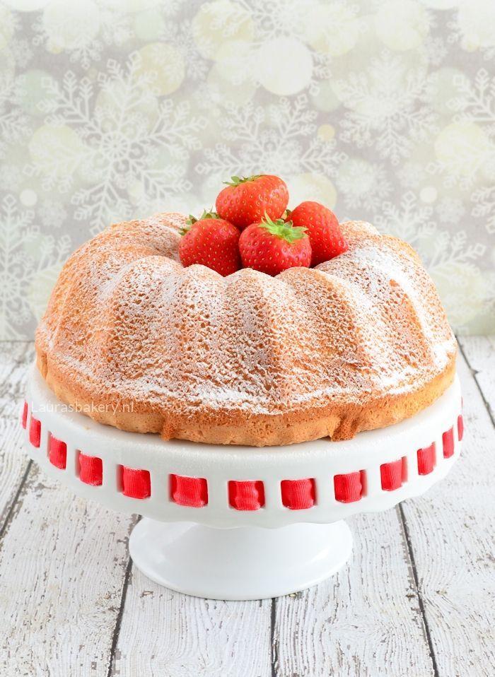 angel food cake met aardbeien 5a