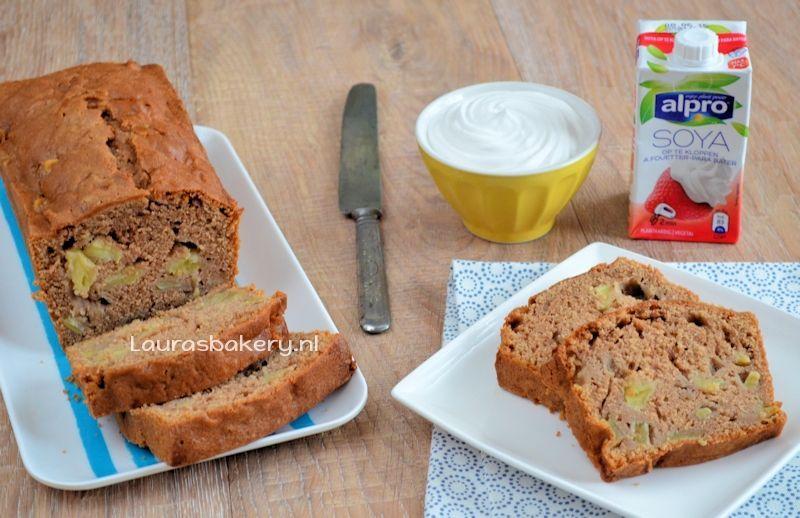 Lactosevrije appel-speculaas cake
