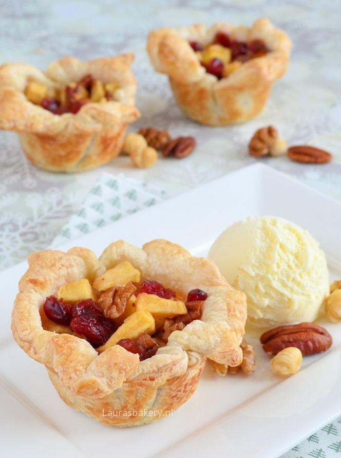 appelgebakjes met cranberries en noten 4a