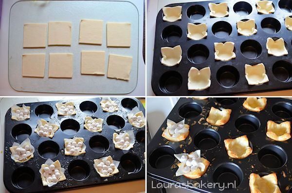 bladerdeeg bakjes maken 2a