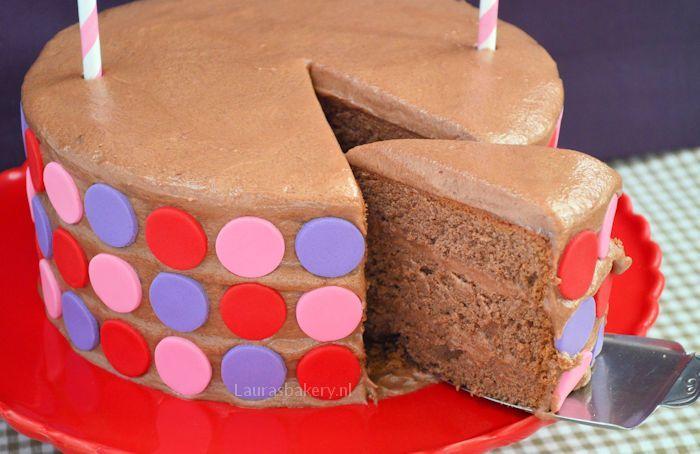 polka dot chocoladetaart