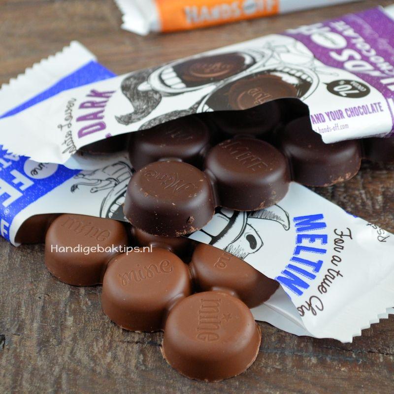 melkchocola in plaats van pure chocola