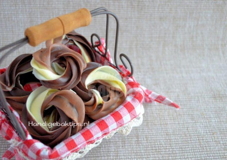 Chocolade figuren spuiten