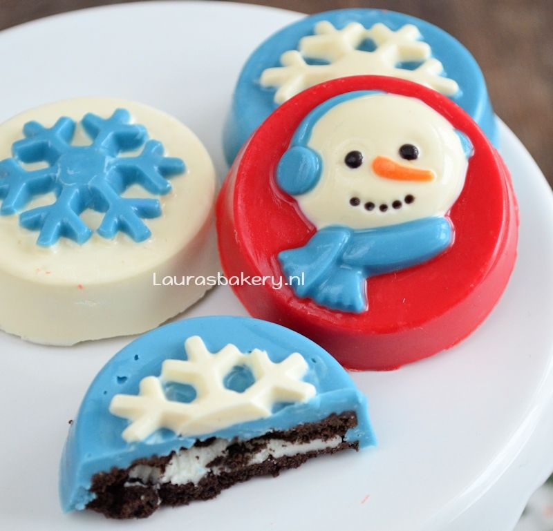 chocolade oreo kerstkoekjes