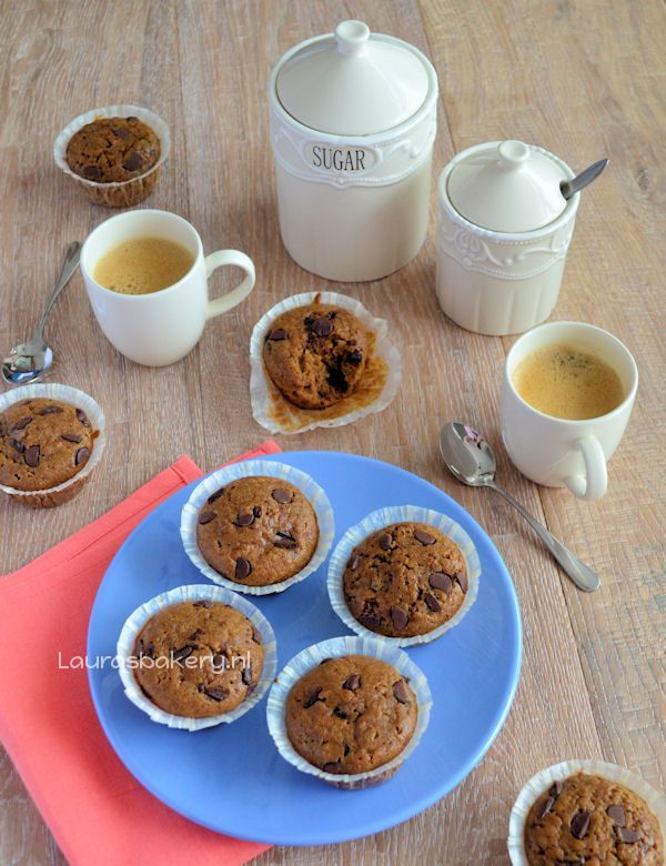 chocolate chip koffie muffins 3a