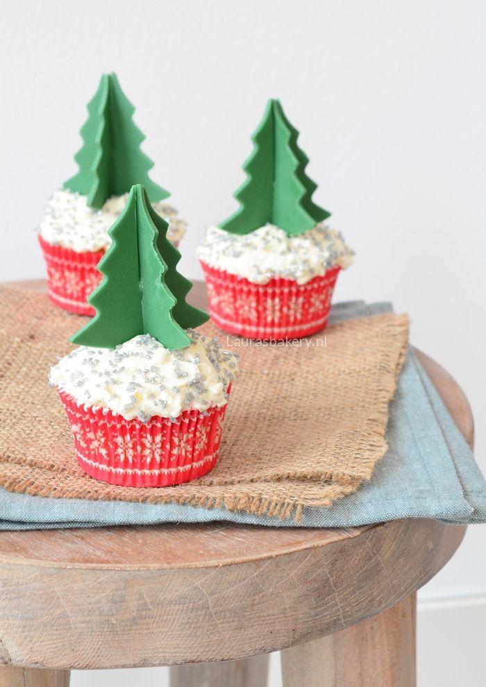 cupcakes met 3D kerstboom 1a