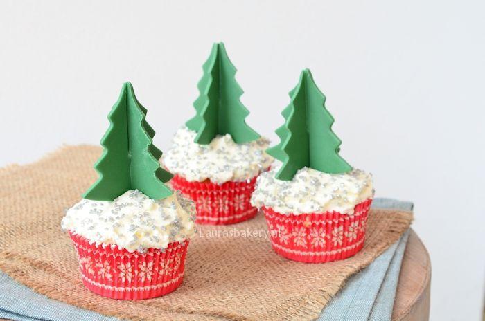 cupcakes met 3D kerstboom 2a