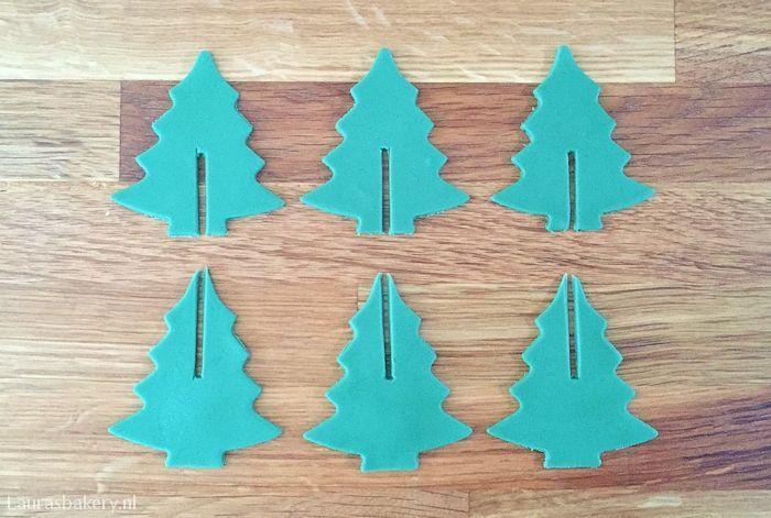 cupcakes met 3D kerstboom 3a