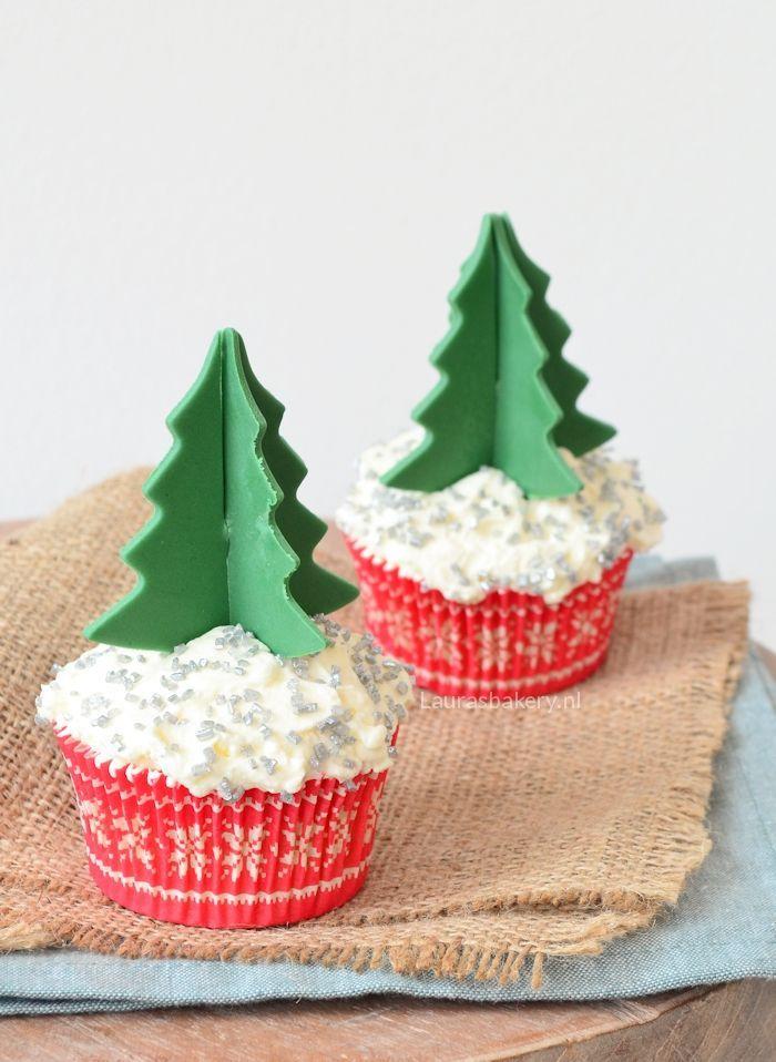 cupcakes met 3D kerstboom 4a
