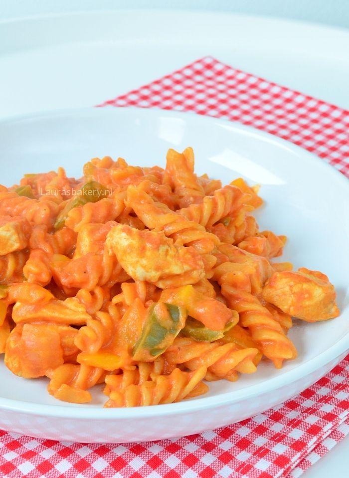 eenpans pasta met kip 1a