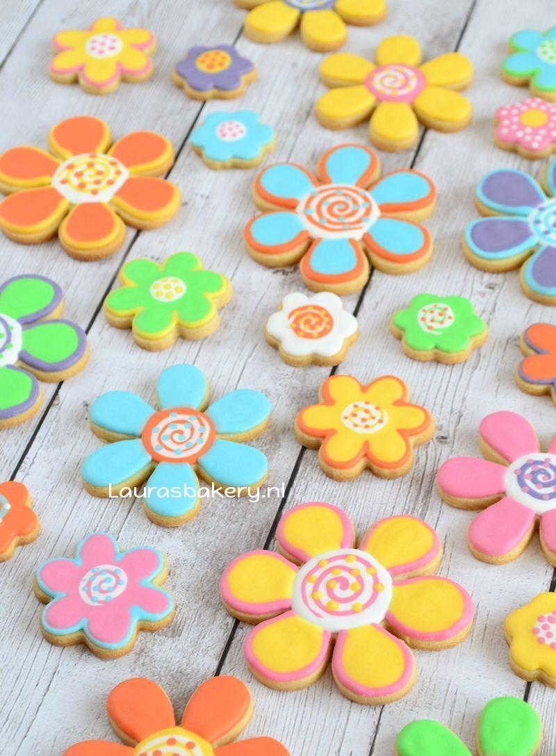 fantasie bloemen koekjes