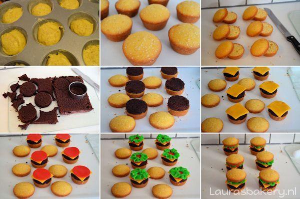 hamburger cupcakes 3a