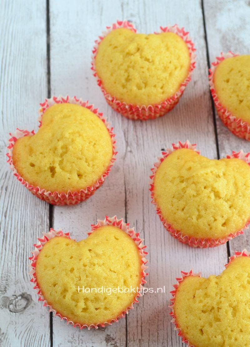 zelf hartvorm cupcakes maken