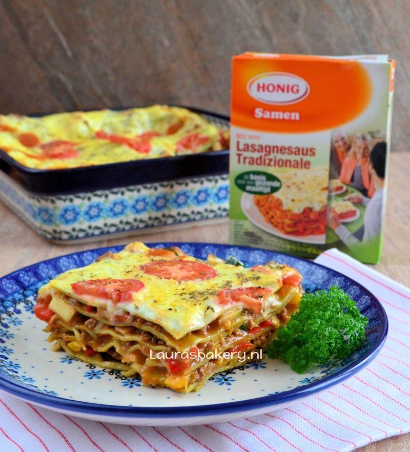 Honig groente lasagne