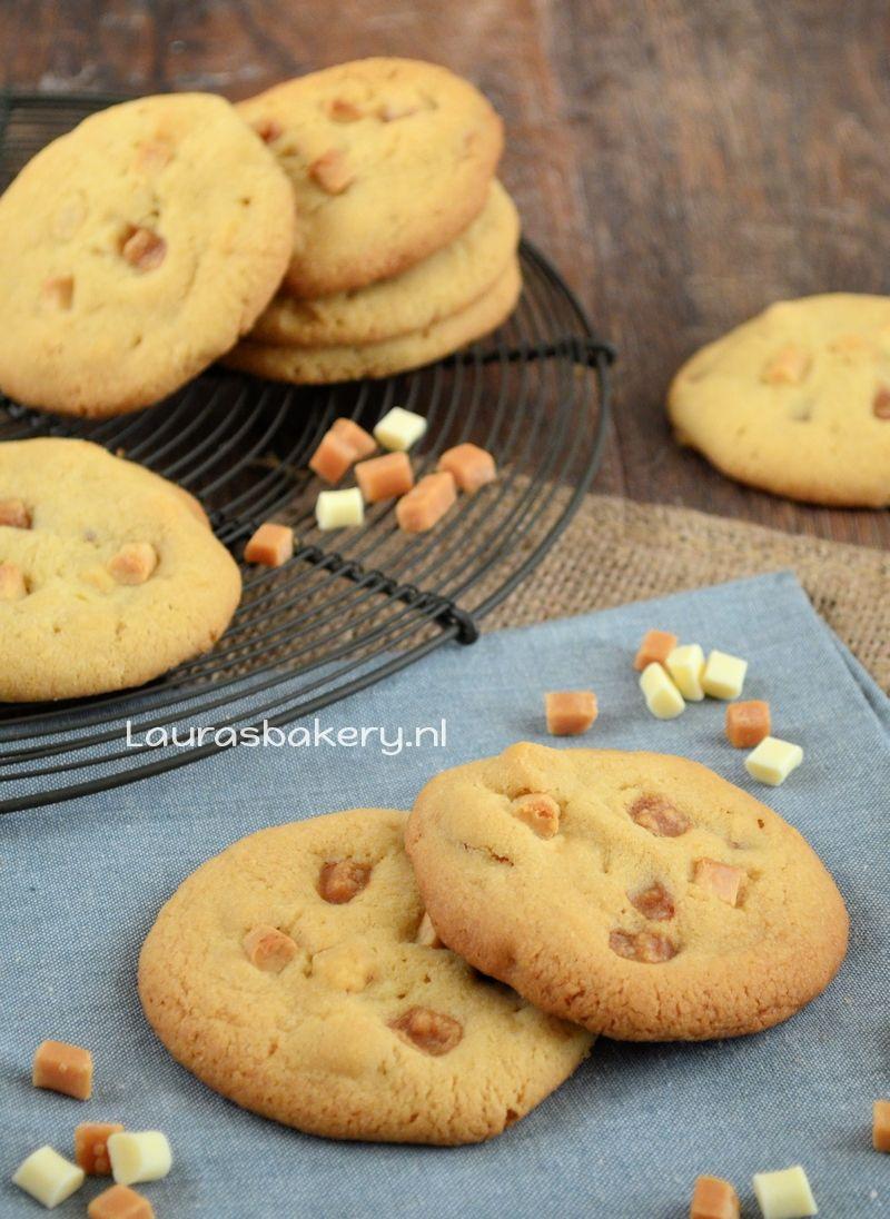 koekjes met witte chocola, karamel en hazelnoten 1a