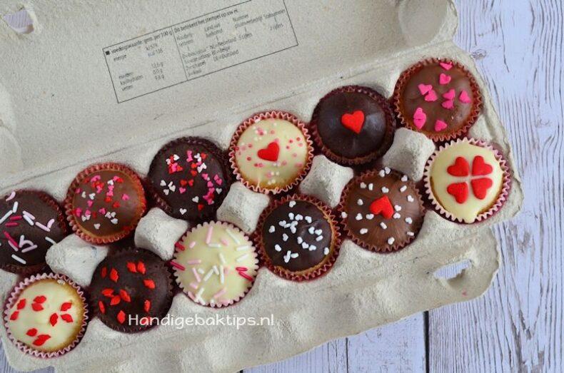 Mini cupcakes verpakken en vervoeren