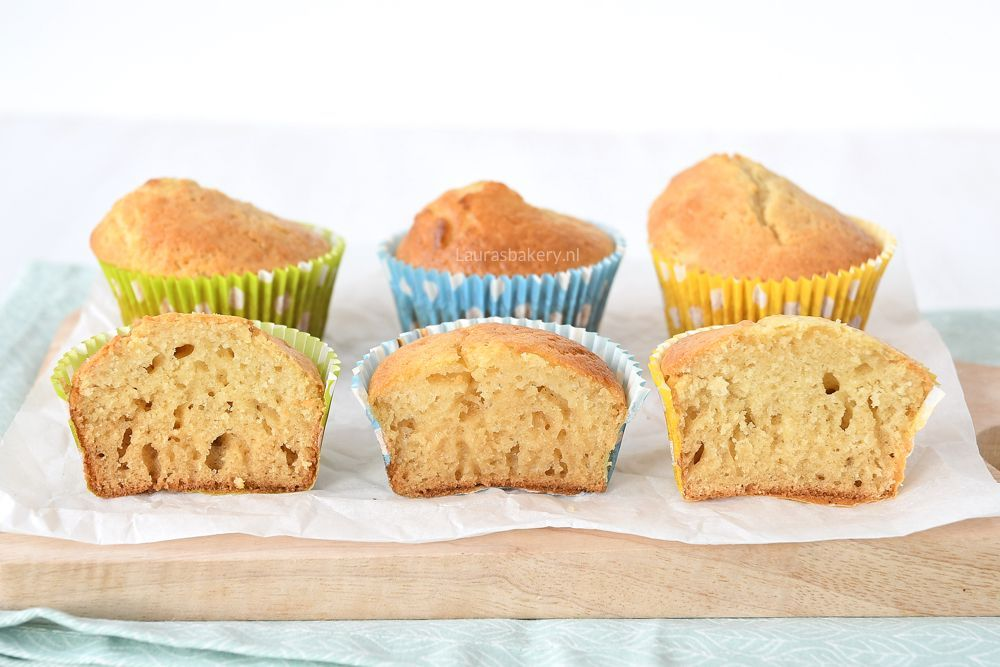 Muffin Test Roomboter Vs Margarine Vs Zonnebloemolie Laura S Bakery
