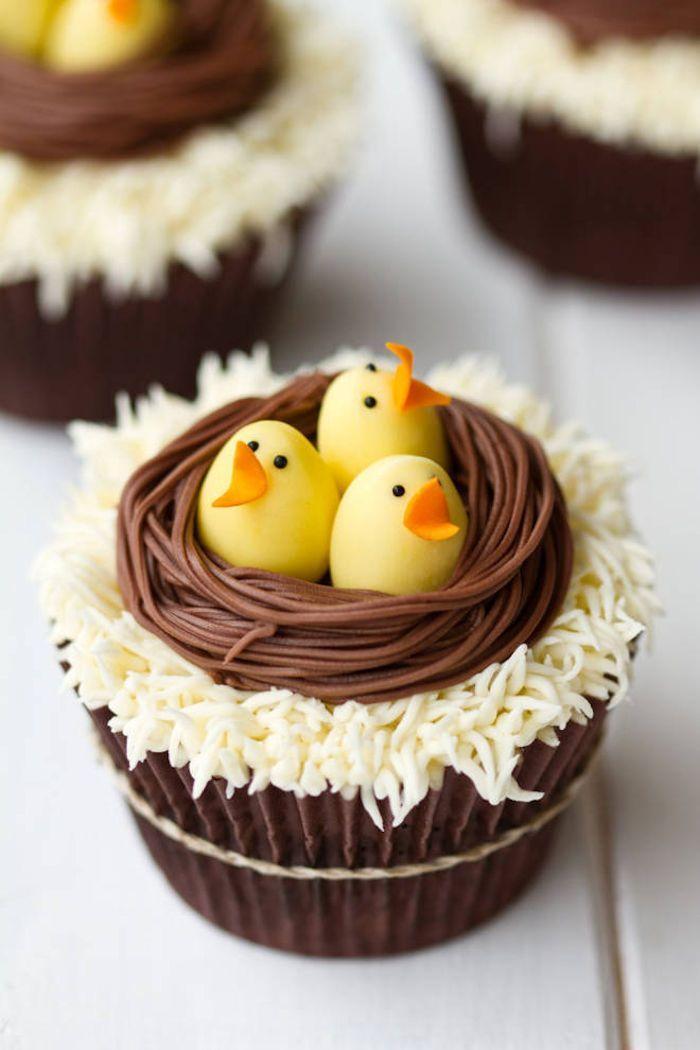 paas inspiratie - cupcakes met nestje