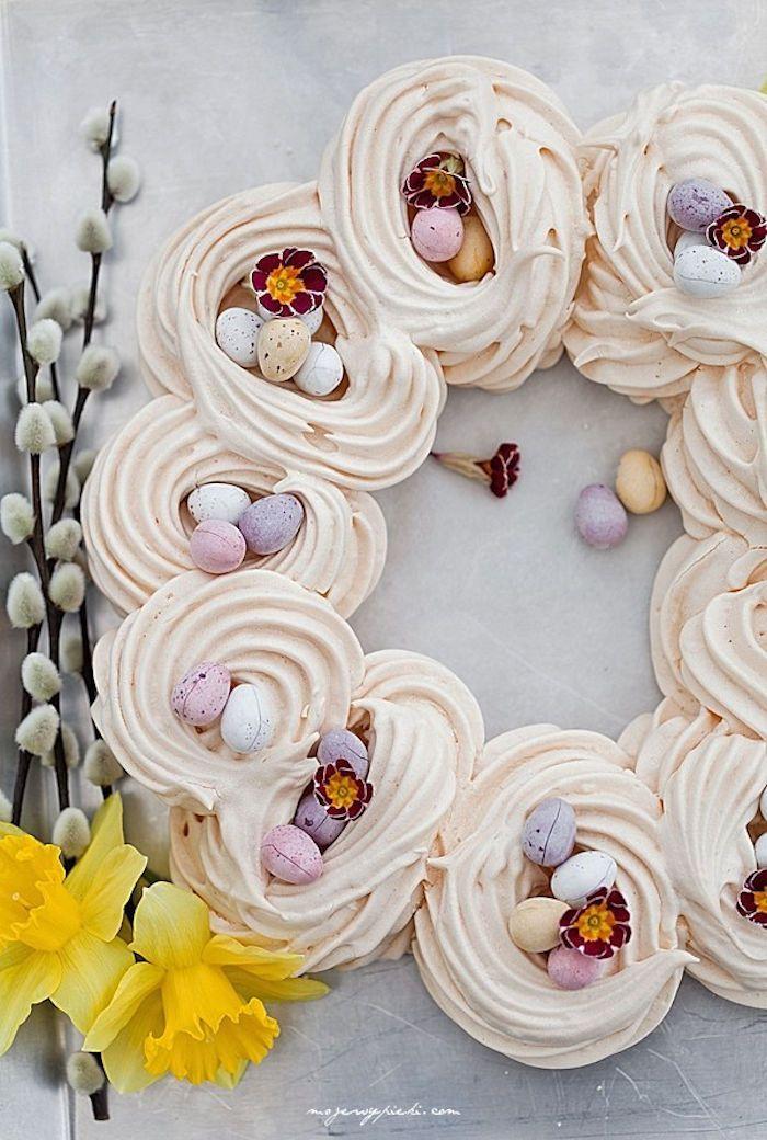 paas inspiratie - krans meringue nestjes