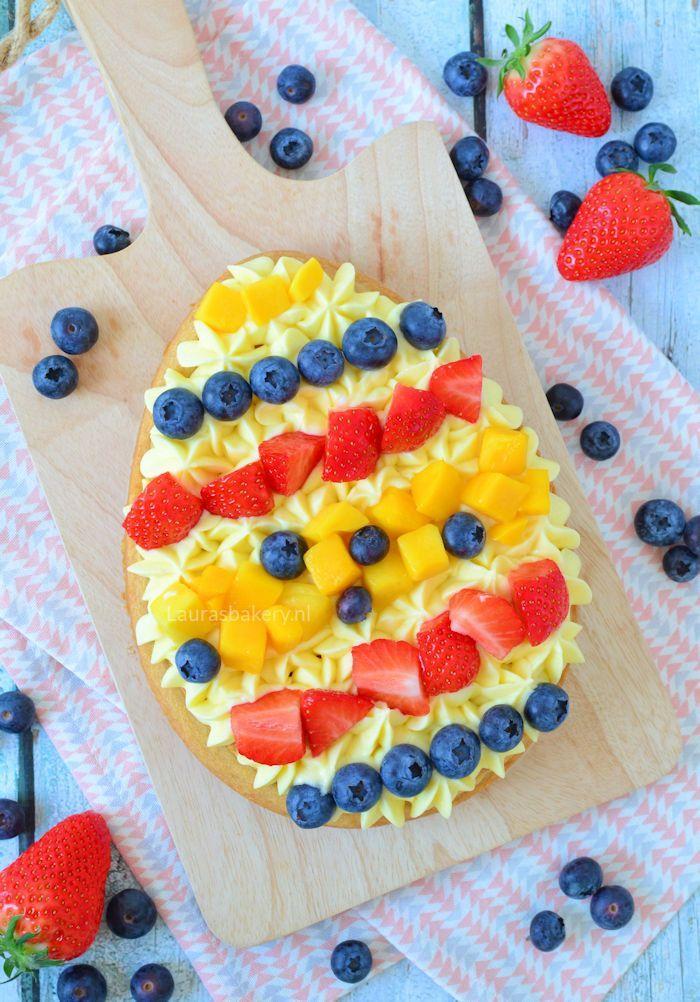 paasei sloffenbodem met fruit 1a