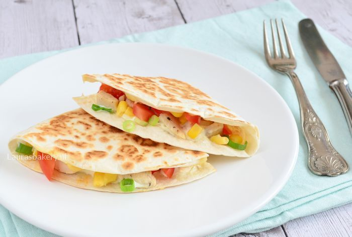 quesadilla's met kip en maïs 2a