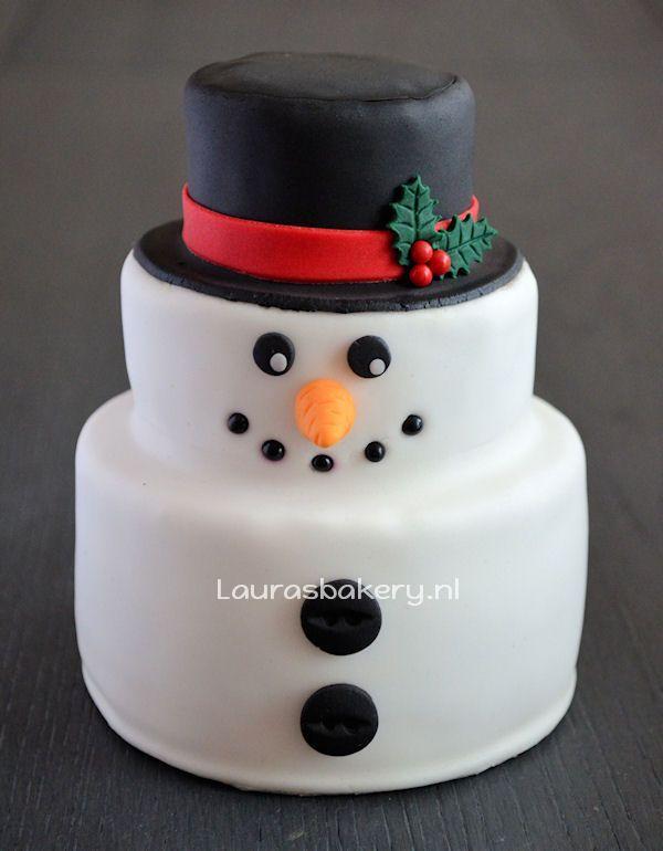 sneeuwpop taartje 1a