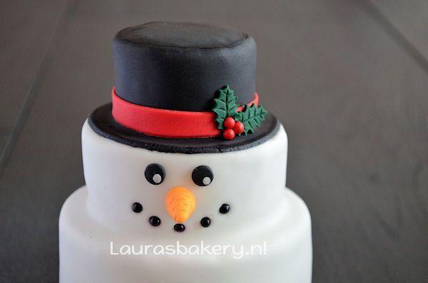 sneeuwpop taartje 2a