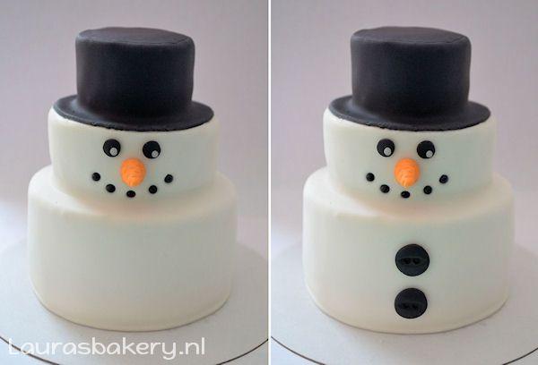 sneeuwpop taartje 5a