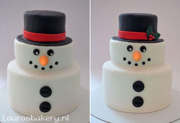 sneeuwpop taartje 6a