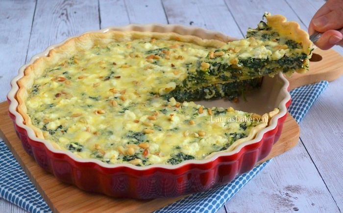 spinazie feta quiche 2a