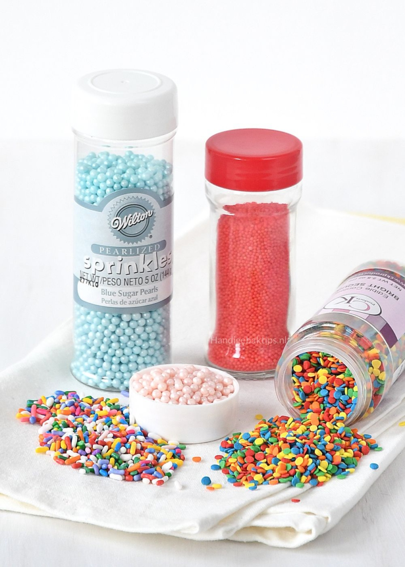 Met welke sprinkles kun je bakken?