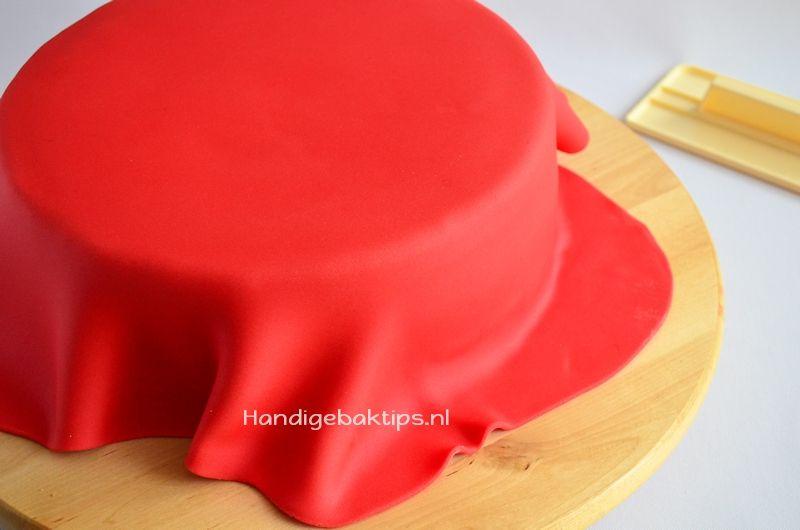 Hoeveel fondant of marsepein heb je nodig voor een taart