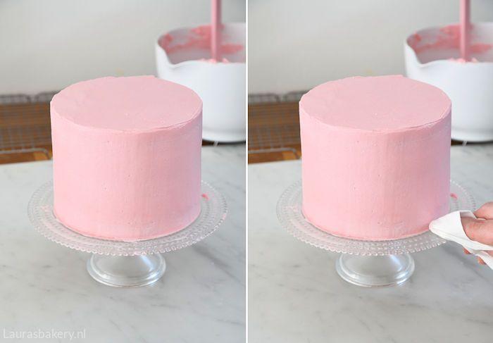 Onwijs How to: taart strak afsmeren - Laura's Bakery YP-93